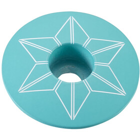 Supacaz Star Capz Ahead Cap Powder-coated himmel blue